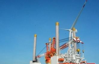 福清兴化湾海上风电样机试验场试运行