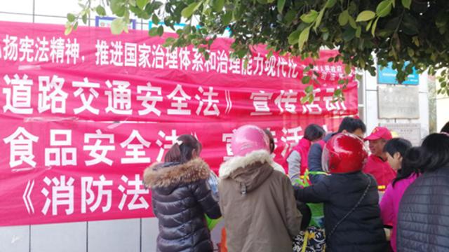 东瀚镇开展《道路交通安全法》宣传活动